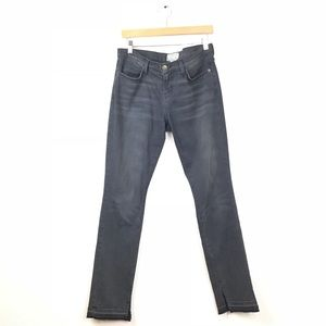 Current Elliot Jeans Gray The Side Cut Skinny Fray